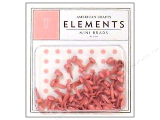 American Crafts Elements Brads Mini Blush 50pc