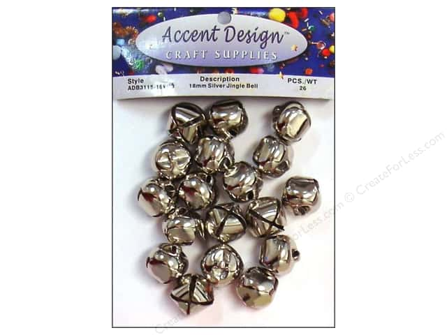 Jingle Bells by Accent Design 3/4 in. 26 pc. Silver