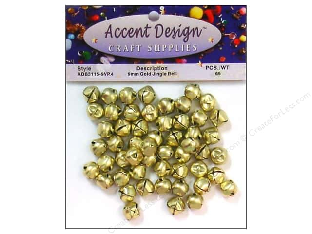 Jingle Bells by Accent Design 3/8 in. 65 pc. Gold