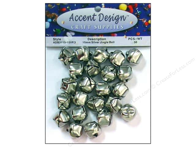 Jingle Bells by Accent Design 5/8 in. 30 pc. Silver