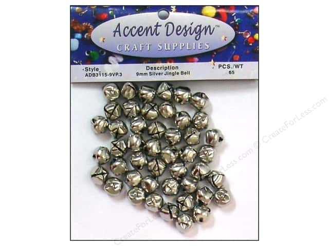 Jingle Bells by Accent Design 3/8 in. 65 pc. Silver