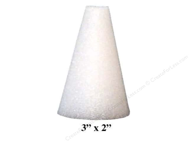 "FloraCraft Styrofoam Bulk Cone 3""x2"" White (48 pieces)"