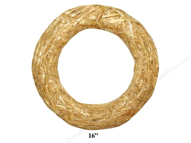 "FloraCraft Straw Wreath 16"" Clear Wrap"