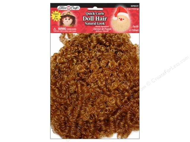 Fibre-Craft Doll Hair Quick Curls 4oz Blond/Light Brown