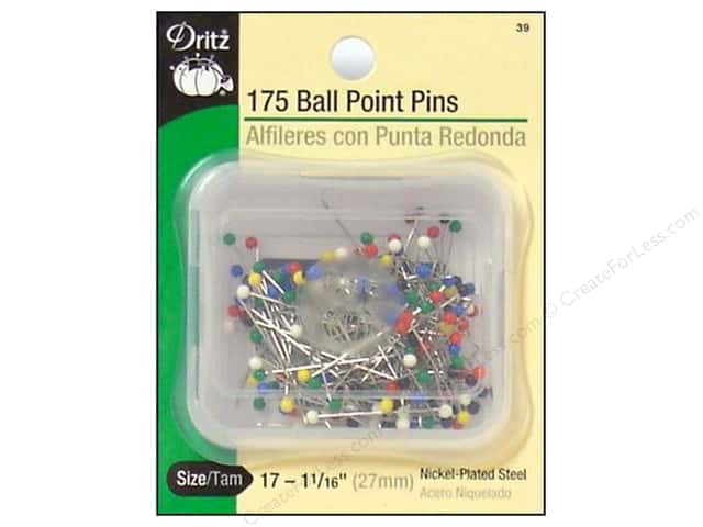 Ball Point Pins by Dritz Size 17 175pc.