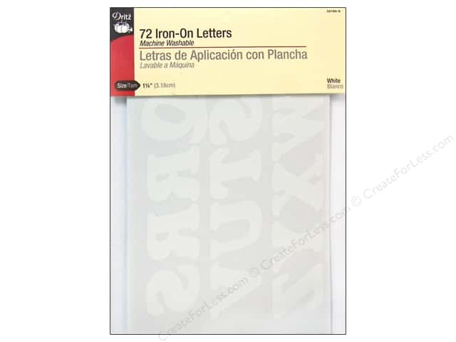 Dritz Iron On Letters Large White