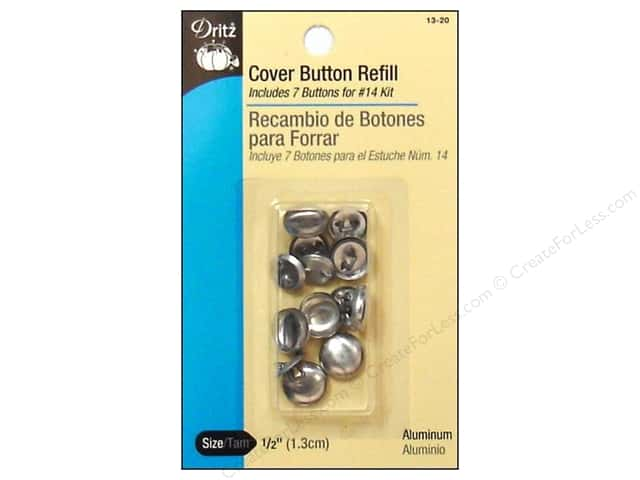 Dritz Cover Button Refill Size 20 7pc