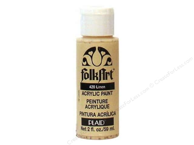 Plaid FolkArt Acrylic Paint 2oz Linen