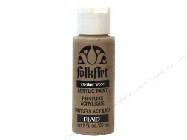 Plaid FolkArt Acrylic Paint 2 oz. #936 Barn Wood