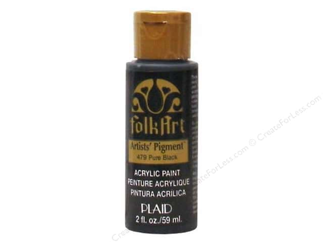 Plaid FolkArt Acrylic Paint 2 oz. #479 Pure Black Pigment