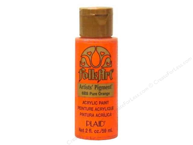 Plaid FolkArt Acrylic Paint 2 oz. #628 Pure Orange Pigment