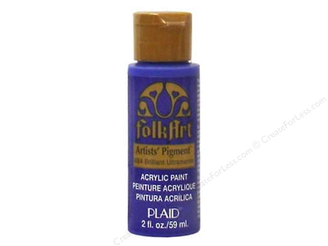 Plaid FolkArt Acrylic Paint 2 oz. #484 Brilliant Ultramarine Pigment