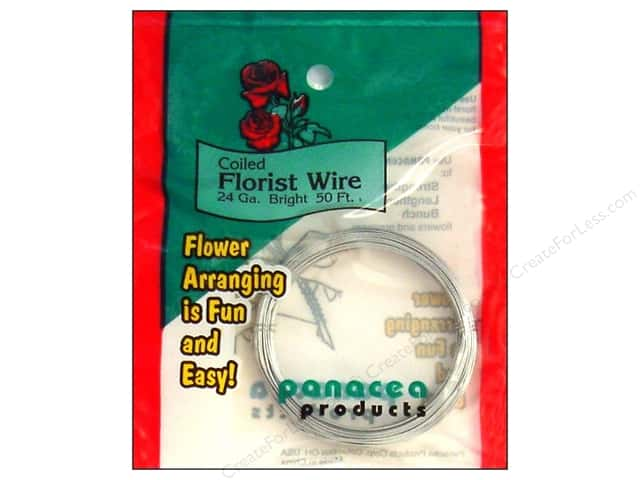 Panacea Wire Coil 24Ga Bright 50'