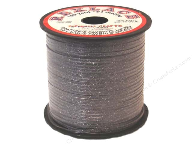 Pepperell Rexlace Craft Lace 100 yd. Silver Sparkle