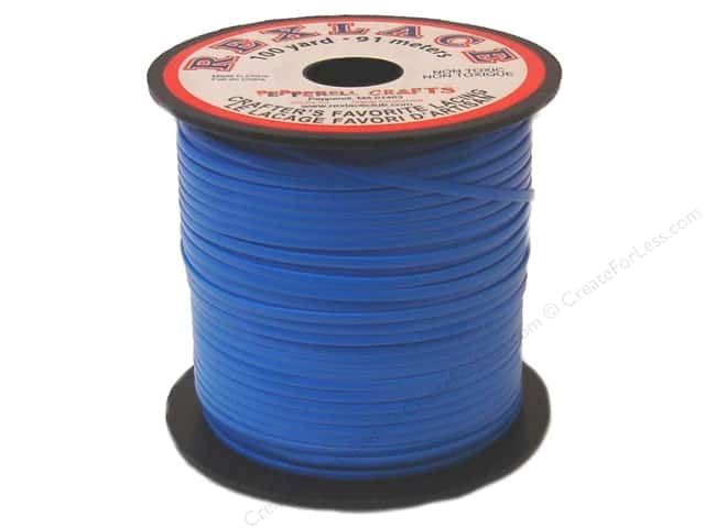 Pepperell Rexlace Craft Lace 100 yd. Neon Blue
