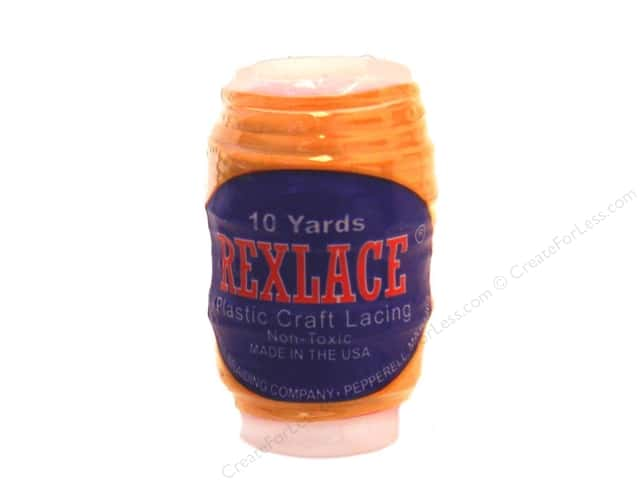 Pepperell Rexlace Craft Lace 10yd Glow Orange (3 spools)
