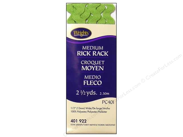 Wrights Rick Rack Medium Leaf Green 2 1/2 yd.
