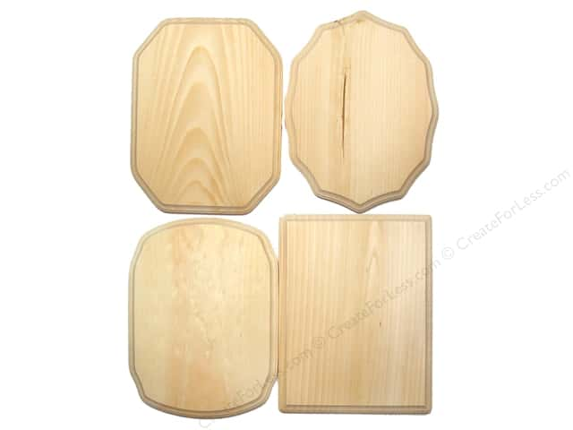 "Demis Wood Plaques Bulk Assortment 9""x 12"" 36pc (36 pieces)"