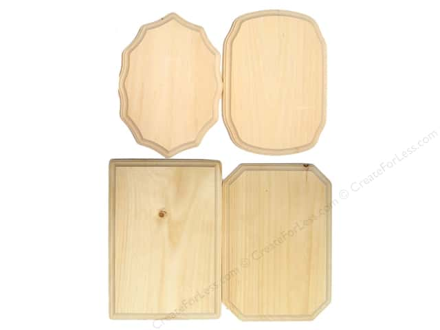 "Demis Wood Plaques Bulk Assortment 7""x 9"" (48 pieces)"