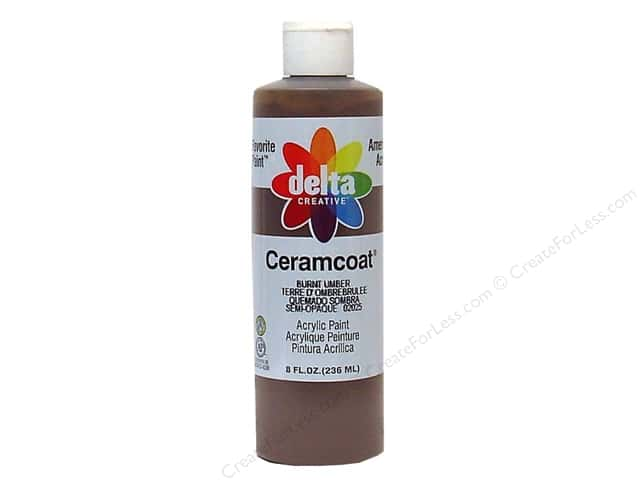 Ceramcoat Acrylic Paint by Delta 8 oz. #2025 Burnt Umber