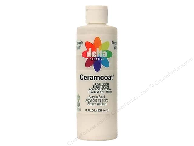 Ceramcoat Acrylic Paint by Delta 8 oz.  #2601 Pearl Finish