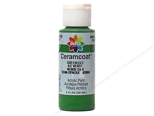 Ceramcoat Acrylic Paint by Delta 2 oz. Green Isle