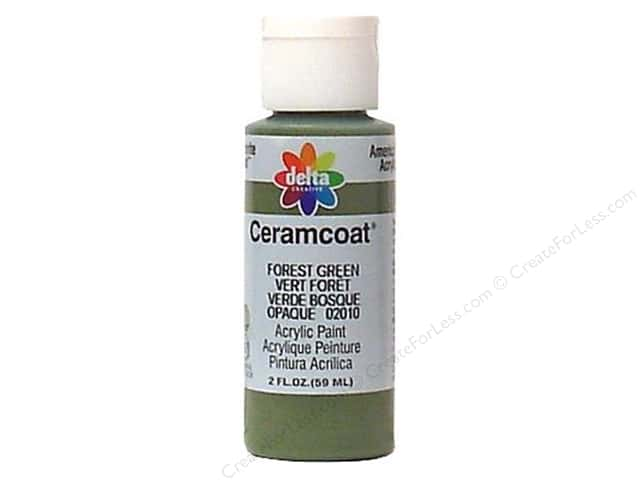 Ceramcoat Acrylic Paint by Delta 2 oz. Forest Green
