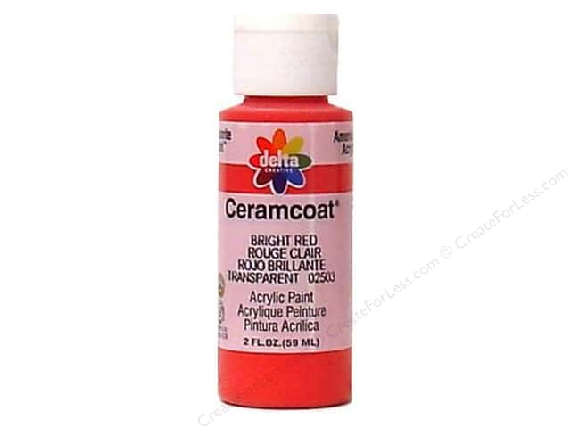 Ceramcoat Acrylic Paint by Delta 2 oz. Bright Red