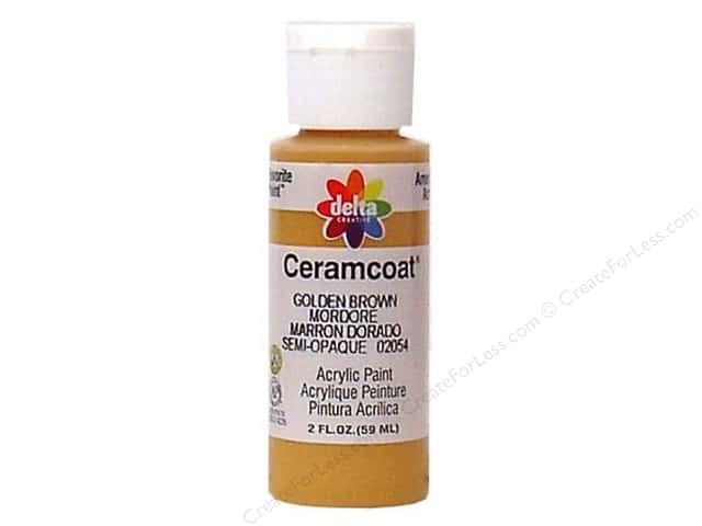 Ceramcoat Acrylic Paint by Delta 2 oz. Golden Brown