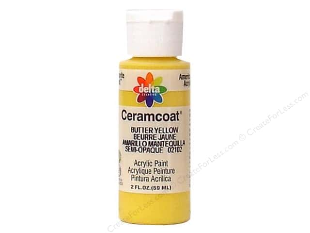 Ceramcoat Acrylic Paint by Delta 2 oz. Butter Yellow