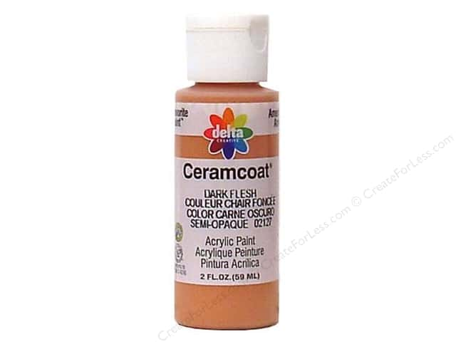 Ceramcoat Acrylic Paint by Delta 2 oz. Dark Flesh