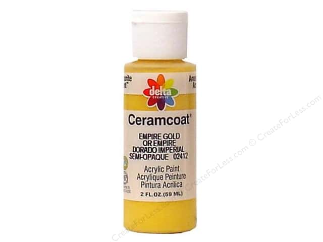 Ceramcoat Acrylic Paint by Delta 2 oz. Empire Gold