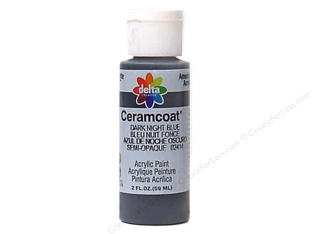 Ceramcoat Acrylic Paint by Delta 2 oz. #2414 Dark Night Blue