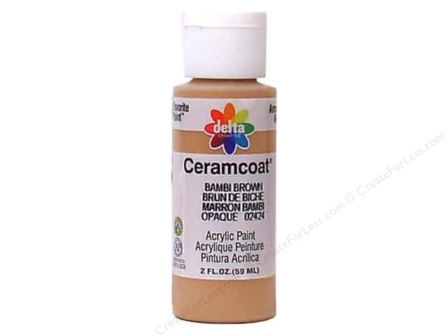Ceramcoat Acrylic Paint by Delta 2 oz. Bambi Brown
