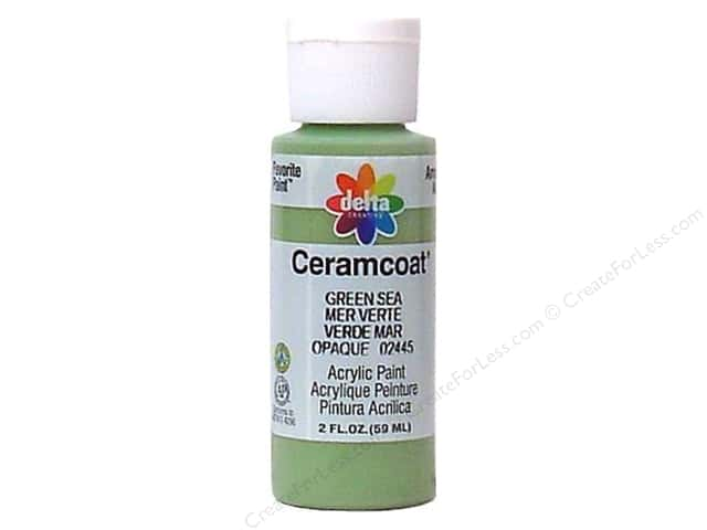 Ceramcoat Acrylic Paint by Delta 2 oz. Green Sea