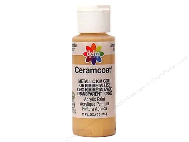 Ceramcoat Acrylic Paint by Delta 2 oz. Metallic Kim Gold