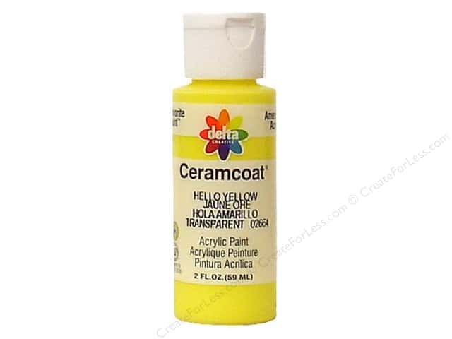 Ceramcoat Acrylic Paint by Delta 2 oz. Hello Yellow