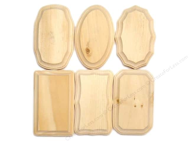 "Demis Wood Plaques Bulk Assortment 3 1/8""x 5 1/8"" 72 pc (72 pieces)"