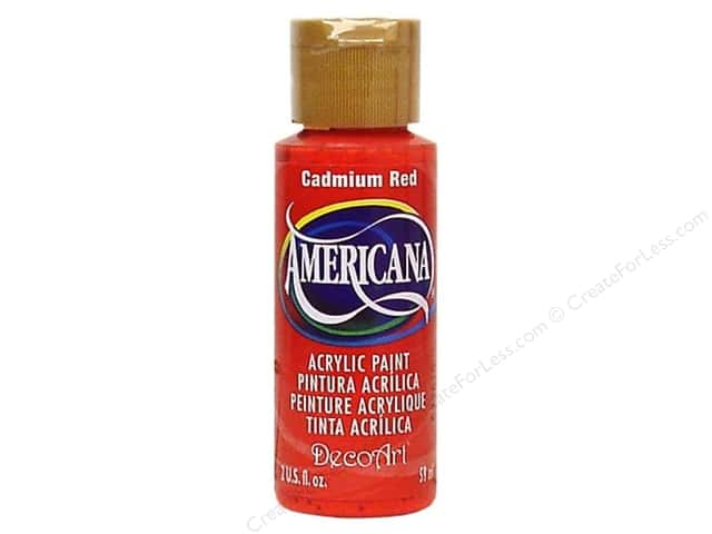 DecoArt Americana Acrylic 2oz Cadmium Red
