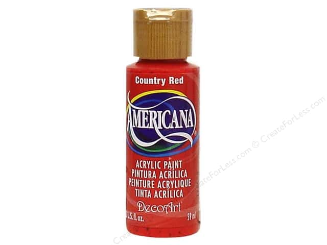 DecoArt Americana Acrylic Paint 2 oz. #018 Country Red