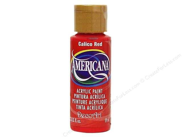 DecoArt Americana Acrylic Paint 2 oz. #020 Calico Red