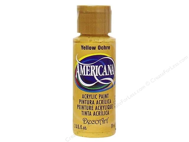 DecoArt Americana Acrylic Paint 2 oz. #08 Yellow Ochre