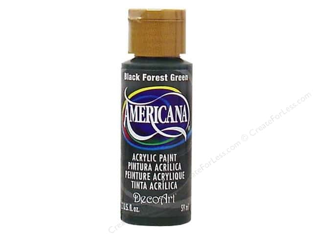 DecoArt Americana Acrylic 2oz Black Forest Green