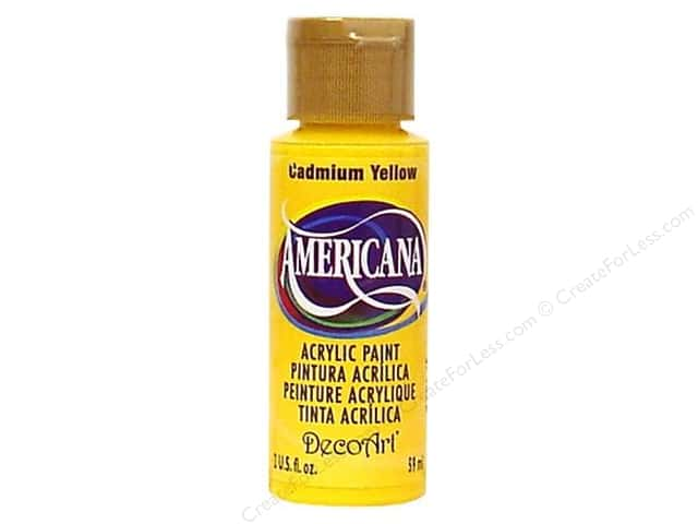Americana Acrylic Paint by DecoArt 2 oz. #10 Cadmium Yellow