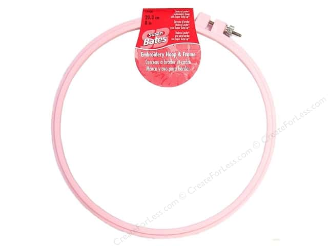 Bates Embroidery Hoops Luxite Pink 8""