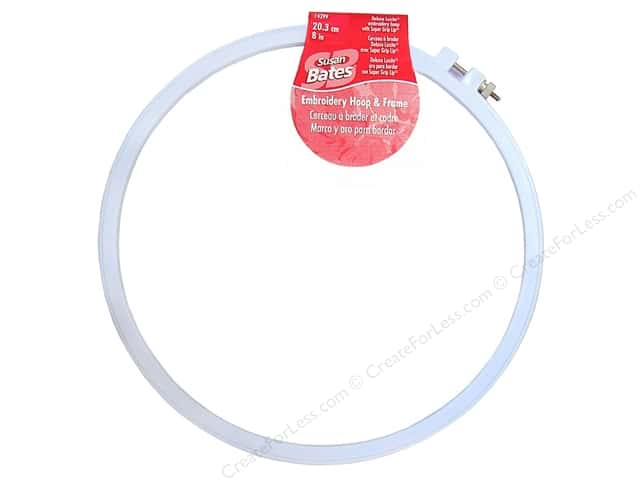 Bates Embroidery Hoops Luxite Blue 8""