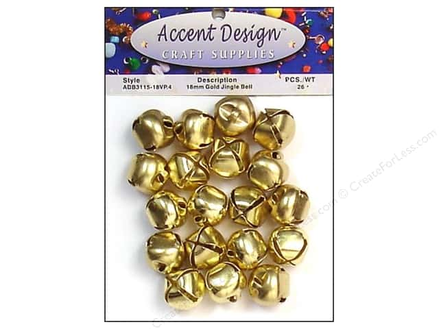 Jingle Bells by Accent Design 3/4 in. 26 pc. Gold