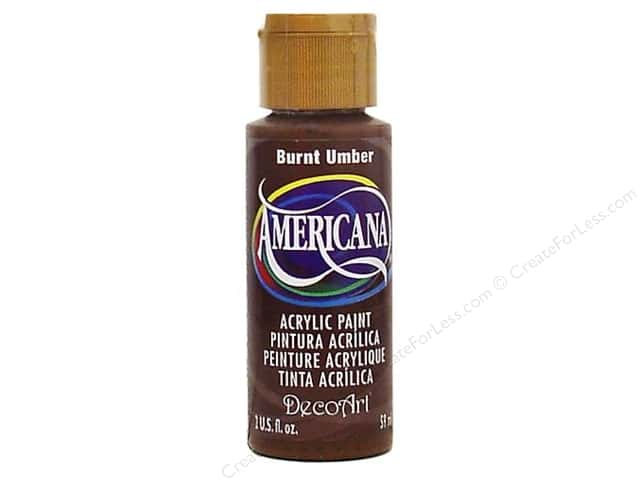 DecoArt Americana Acrylic Paint 2 oz. #064 Burnt Amber