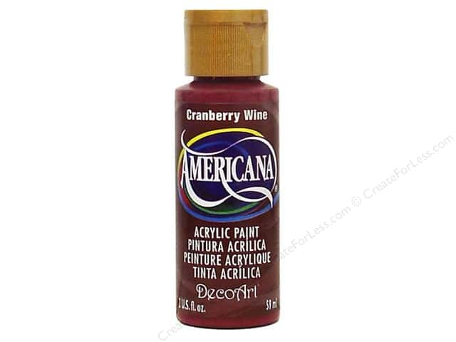 DecoArt Americana Acrylic Paint 2 oz. #112 Cranberry Wine