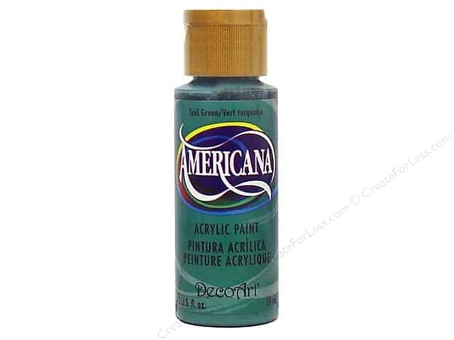 DecoArt Americana Acrylic Paint 2 oz. #107 Teal Green